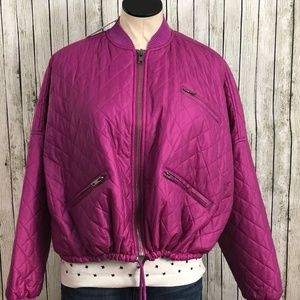 NWT Free People Quilted Bomber Retro Boxy Oversize